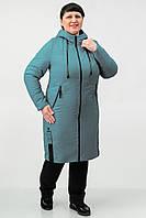 Удлиненная демисезонная куртка Atrsun Искра темный брокард 56