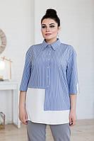 Сорочка ArtSun Ольга сіро-блакитний 50