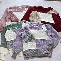 Стильный вязанный свитер Турция Oversize