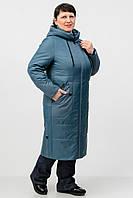 Удлиненная демисезонная куртка Atrsun Власта 2 серо-голубой 52