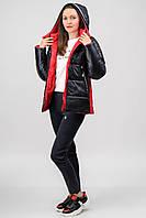 Куртка Atrsun Маліка чорний з червоною обробкою 44