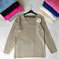 Мягкий женский свитер Турция на 50-52 размер - полубатал, фото 1