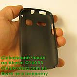 Alcatel 4033D, черный_силиконовый чехол, фото 3