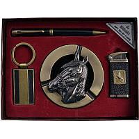 """Подарочный набор """"Символ года"""", пепельница + зажигалка + ручка + брелок"""