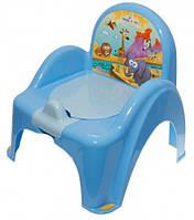 Tega Музыкальный горшок-кресло Tega PO-053 Cars  голубой