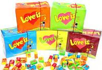 Супер Сет!!! 5 блоков жвачек Love is... Вишня, Банан, Яблоко, Апельсин, Кокос :)