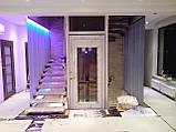 Лестничное ограждение из стекла с подсветкой, фото 2