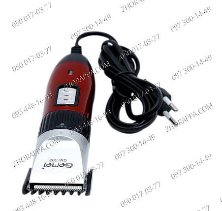 Машинка для стрижки GM Gemei 302, универсальная, красивая борода, бодигумер, интим стрижка, Машинка для бороды, фото 2