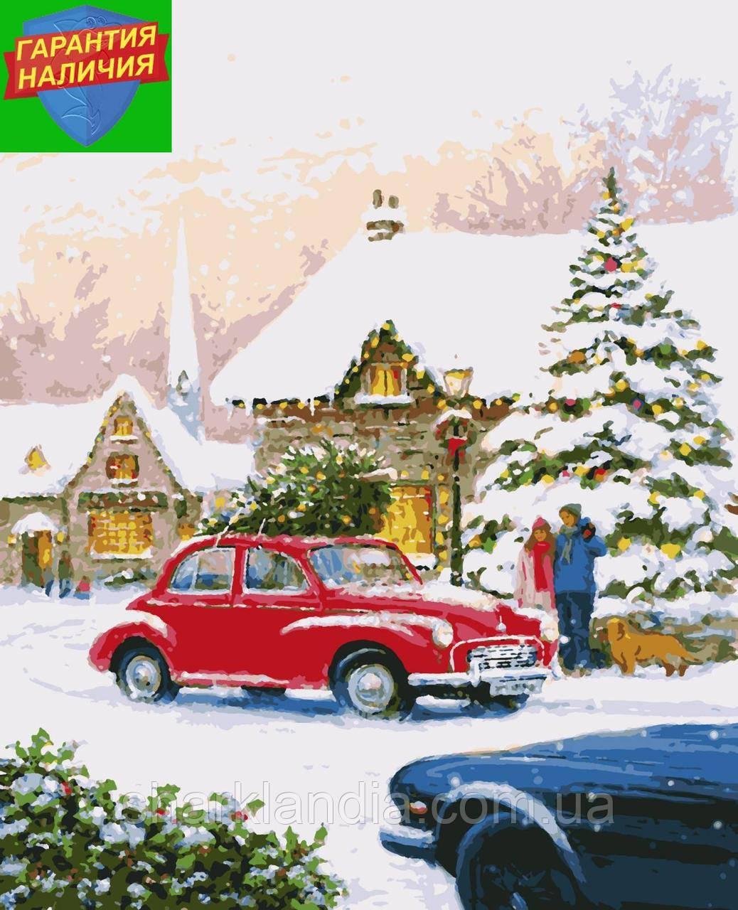 Картина по номерам Праздничное настроение Новый Год 40*50 см Artissimo Раскраски Рождество Зима Авто New Year