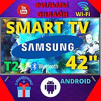 Телевизор Самсунг 42 дюйма Samsung Smart TV Android WIFI Смарт Телевізор UA42TU9200