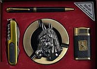"""Подарочный набор """"Символ года"""", пепельница + зажигалка + ручка + нож"""