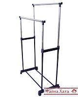 Вешалка-стойка для одежды, двойная металлическая