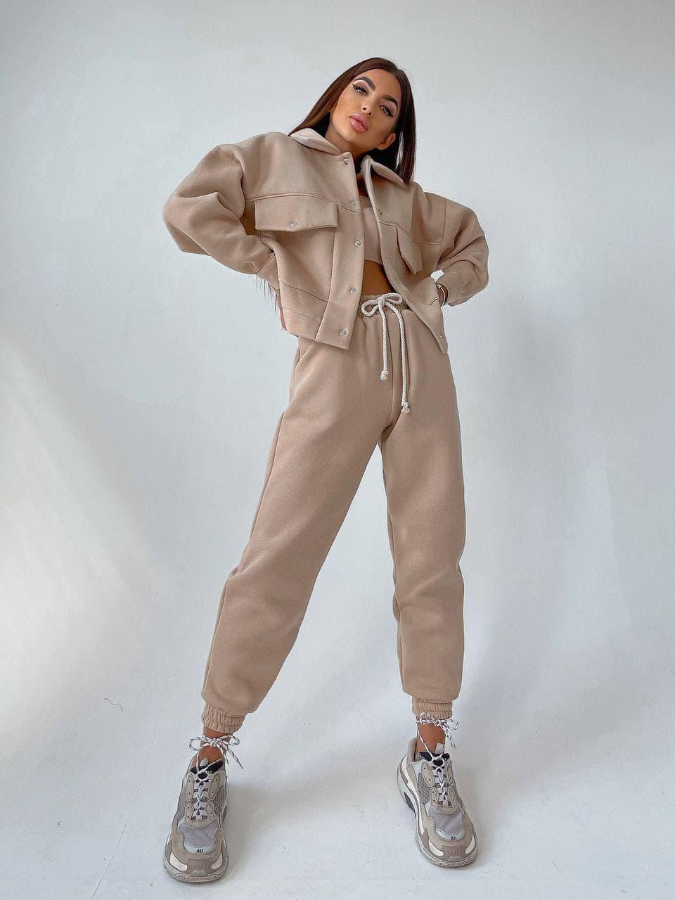 Супер стильный женский костюм Tamila Beige