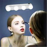 Лампа 4 LED для зеркала для макияжа на присосках (W0-33), фото 6