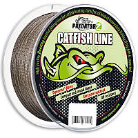 Плетеный шнур для сомов Predator-Z Catfish Line, Brown, Braided, 0,60mm, 60,0kg, 100m