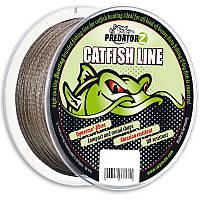 Плетеный шнур для сомов Predator-Z Catfish Line, Brown, Braided, 0,80mm, 70,0kg, 100m