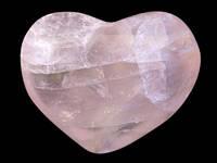 Сердце камень розовый кварц 6,5