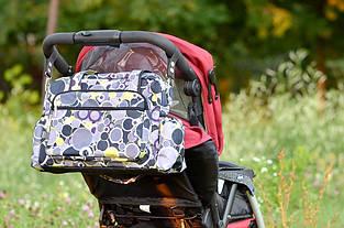 Универсальная водонепроницаемая сумка для коляски Baby Breeze 0348 дизайн серый