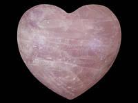 Подарочная фигурка Сердце из розового кварца 8,5 см