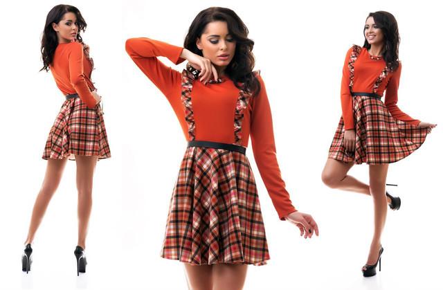 Женское платье шотландка