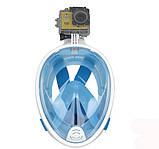 Инновационная маска для снорклинга подводного плавания с креплением для камеры F113, фото 5