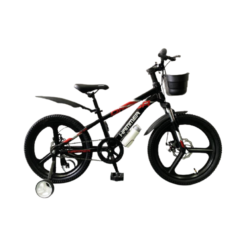 Гірський підлітковий велосипед HAMMER VA-230 з повною комплектацією Чорно-червоний