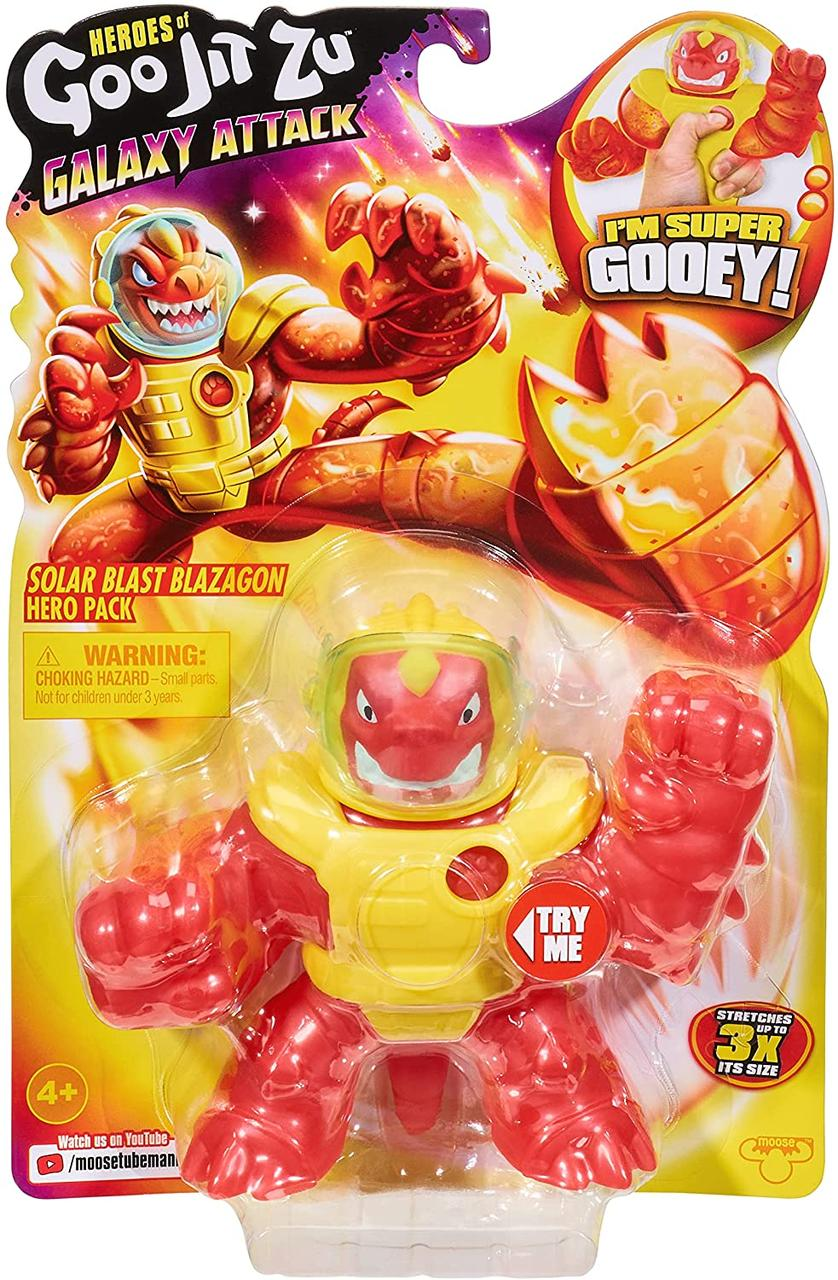 Фігурка тягучка Герої Гу Джіт Зу Сонячний вибух Блэйзагон Галактична атака Goo Jit Zu Galaxy Blazagon