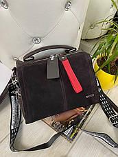 Сумка Baliviya Fashion з двома ремінцями шоколад фешн4, фото 2