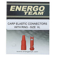 Коннектор для резины EnergoTeam Carp Elastic Connectors With Ring Size XL
