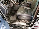 Килимки Lexus LX570 з Екошкіри 3D з Текстилем (2015+) Тюнінг Оригінальні, фото 2