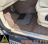 Килимки Lexus LX570 з Екошкіри 3D з Текстилем (2015+) Тюнінг Оригінальні, фото 6