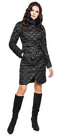 Черная куртка трендовая женская модель 31030 (ОСТАЛСЯ ТОЛЬКО 58(4XL))
