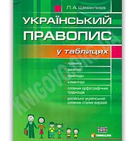 Український правопис у таблицях Авт: Шевелєва Л. Вид-во: Гімназія, фото 1