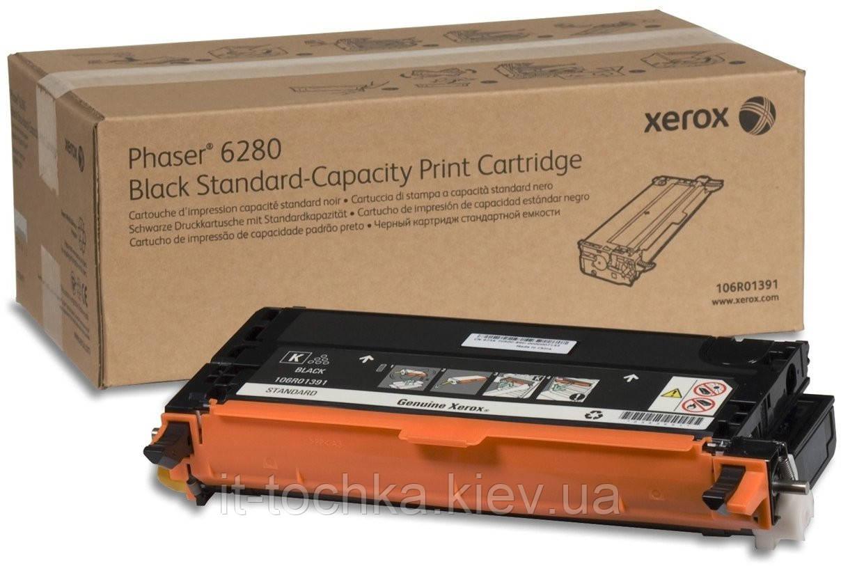 Черный тонер картридж xerox ph6280 black (106r01391)