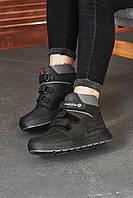 Підліткові черевики шкіряні зимові чорні Monster Fil