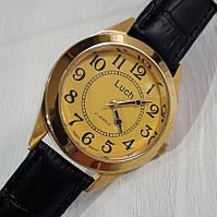Годинник чоловічий механічний на ремінці золотисті Промінь Промінь 125 126 з арабськими цифрами Білорусь