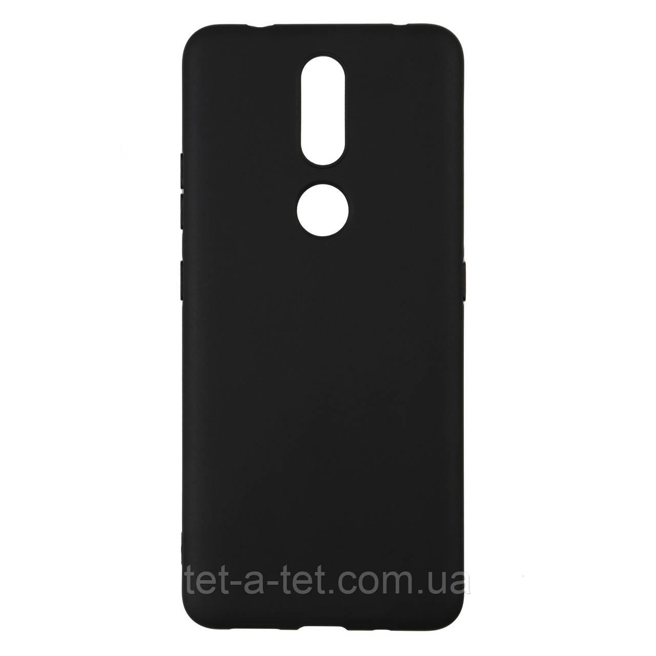 Силиконовый чехол Matte Slim Fit для Nokia 2.4 - Черный (Black)