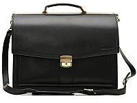 Классический мужской кожаный портфель Manufatto