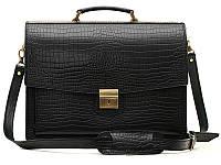 Классический мужской кожаный портфель Croco Manufatto