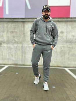 Чоловічий утеплений спортивний костюм на флісі в кольорах