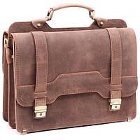 Кожаный портфель ручной работы Manufatto СПС — 3 Maroon Crazy Horse