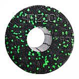 Масажний ролик (валик, роллер) гладкий 4FIZJO EPP PRO+ 33 x 14 см 4FJ1424 Black/Green, фото 4