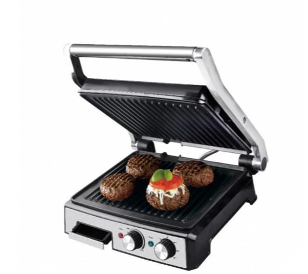Притискної контактний настільний електричний гриль Haeger HG-2681, кухонний побутової гриль барбекю