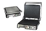 Притискної контактний настільний електричний гриль Haeger HG-2681, кухонний побутової гриль барбекю, фото 3