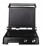 Притискної контактний настільний електричний гриль Haeger HG-2681, кухонний побутової гриль барбекю, фото 4