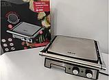 Притискної контактний настільний електричний гриль Haeger HG-2681, кухонний побутової гриль барбекю, фото 10