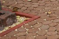 Поребрик фигурный квадратный цвет горчичный (500x80x250)