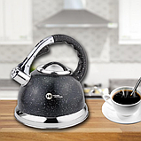 Чайник зі свистком гранітний HIGHER+KITCHEN ZP-021 3.5 л, фото 3