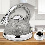 Чайник зі свистком гранітний HIGHER+KITCHEN ZP-021 3.5 л, фото 4