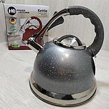 Чайник зі свистком гранітний HIGHER+KITCHEN ZP-021 3.5 л, фото 6